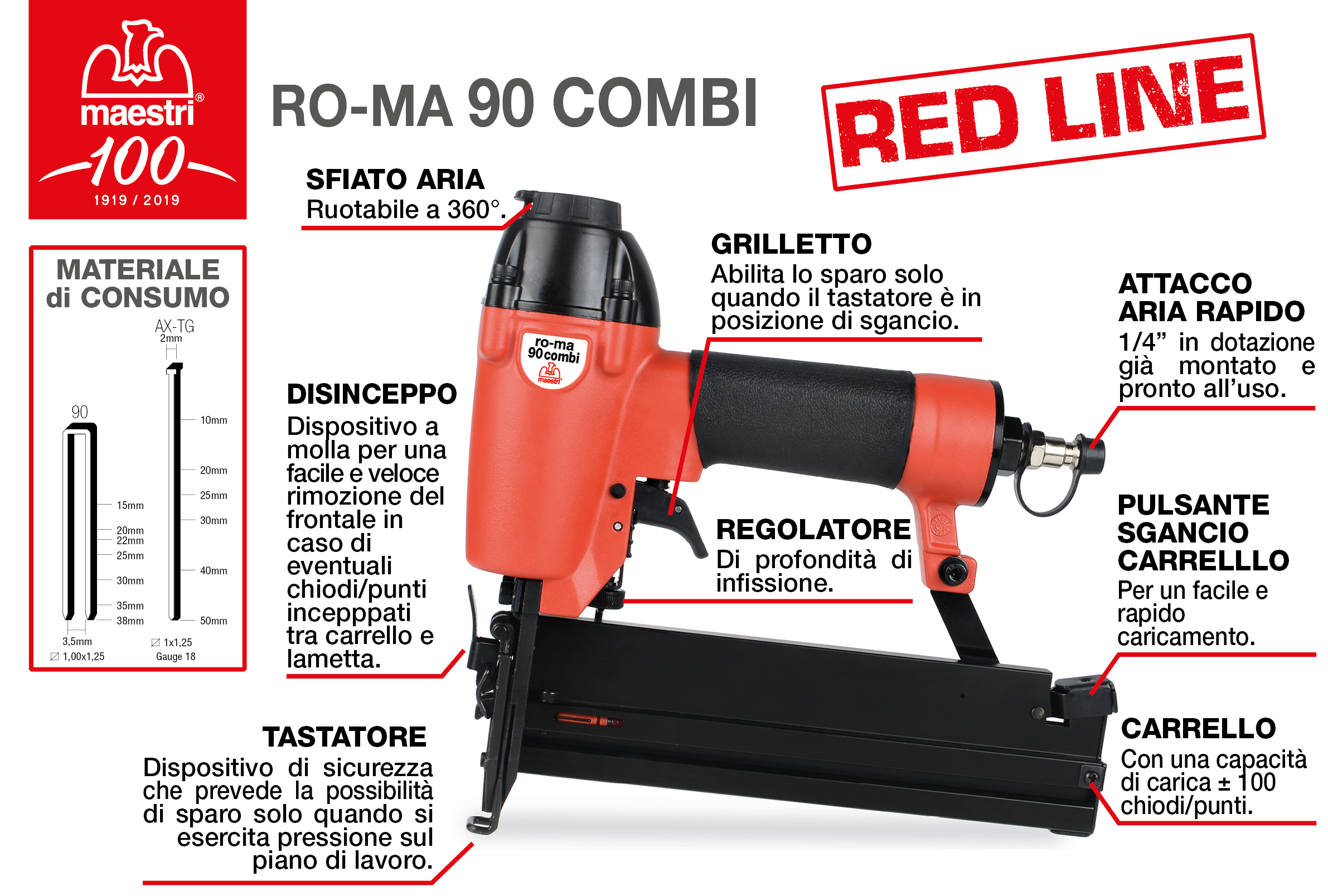 RO-MA 90 COMBI RED LINE